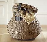 Jacquelyne Rattan Lidded Barrel Basket