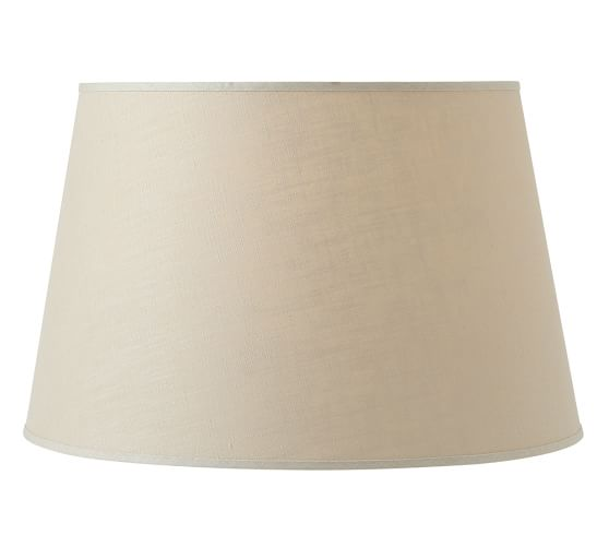 Linen Tapered Drum Lamp Shade, Extra Large, Bisque