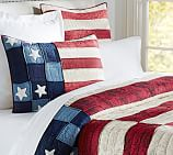 Old Glory Flag Patchwork Quilt, Twin