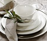Napoli Stoneware Dinnerware, 16-Piece Soup Bowl Set, White