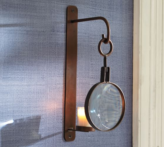 Magnifying Glass Wall-Mount Votive Sconce