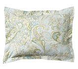 Sienna Paisley Sham, Standard, Porcelain Blue