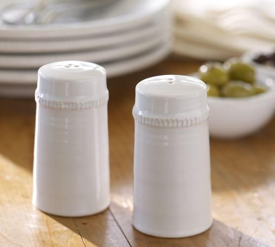Gabriella Salt & Pepper Shakers, White