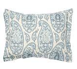 Ashlyn Paisley Organic Cotton Sham, Standard, Blue