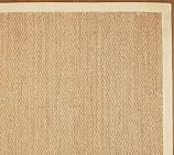 Color-Bound Seagrass Rug Swatch, Natural