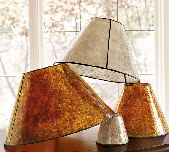 PB Basic Mica Lamp Shade, Small, Amber