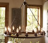 Stanton Leaf Cup 15-Light Chandelier with Mini Mica Chandelier Shades