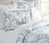 Joli Paisley Duvet Cover, Twin, Blue