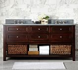 Classic Double Sink Console Base Only, Espresso Finish