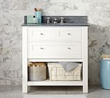 Classic Single Sink Console Base only, White