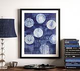Indigo Abstract Framed Print, Circles, 24 x 30