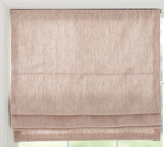 Mini Stripe Cordless Roman Shade, 26 x 64