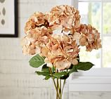Faux Taupe Hydrangea Stem