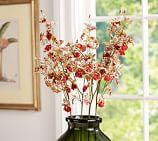 Faux Vanda Orchid Stem, Pink