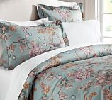 Jamie Floral Duvet Cover, Twin, Blue