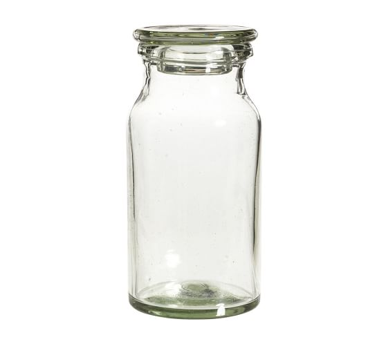 Recycled Glass Bath Canister, Large, Clear