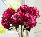 Faux Hydrangea Stem, Hot Pink