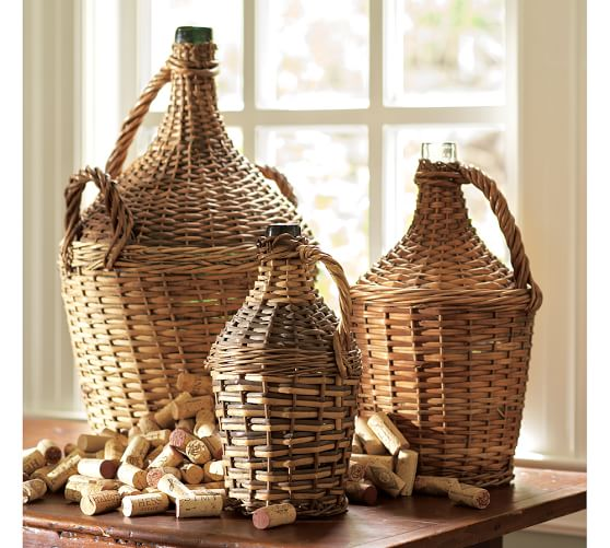 PB Found Woven Wine Bottle, Medium