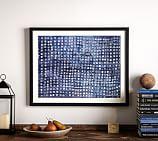 Indigo Abstract Framed Print, Indigo Dot, 24 x 30