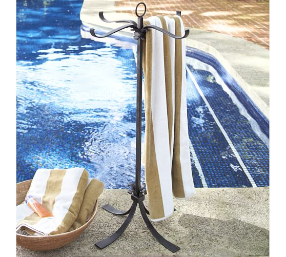 Bronze Pool Storage Towel Valet