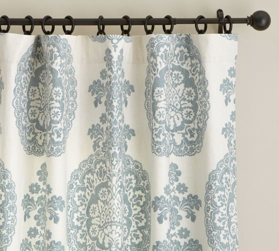 Lucianna Medallion Pole Pocket Drape, 50 x 96