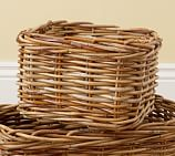 Logan Woven Arurog Utility Basket, Natural finish