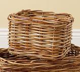 Logan Woven Arurog Utility Basket, Natural finish