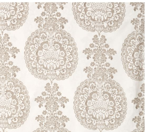 Lucianna Medallion Bedding Swatch, Taupe