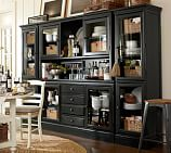 Tucker Wall Unit, 1 Buffet, 1 Hutch & 2 Towers, Black