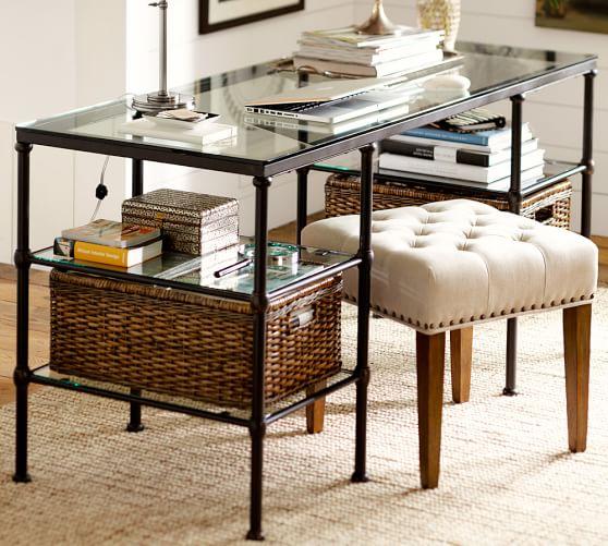 Blair Iron & Glass Desk