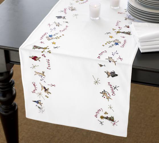 Reindeer Table Runner, 18 x 108