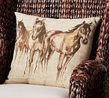Painted Horse Outdoor Pillow, 18