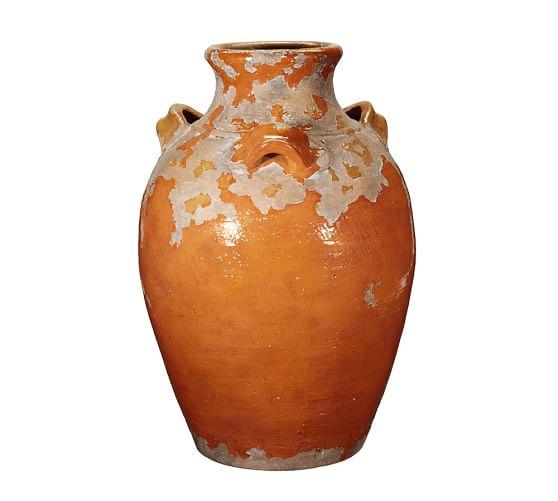 Sicily Terra Cotta, X-Large Persimmon Vase