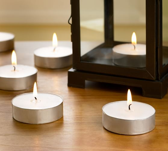 PB Oversized Unscented Tealight, Set of 6