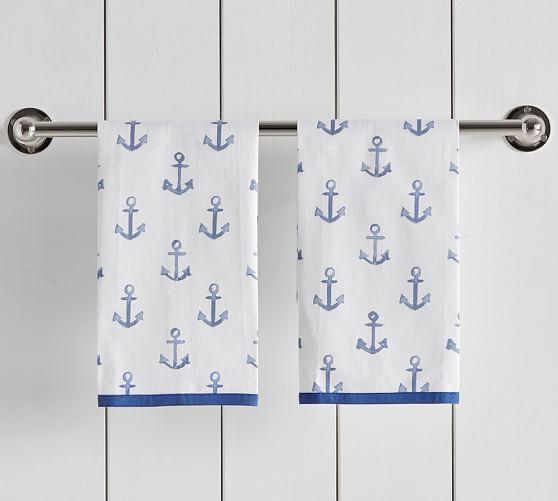 Anchor Print Guest Towels   Set of 2. Anchor Print Guest Towels   Set of 2   Pottery Barn