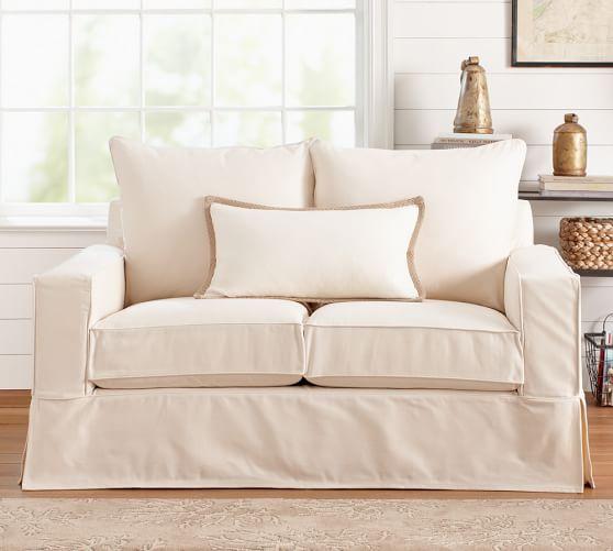 PB fort Square Arm Slipcovered Sofa