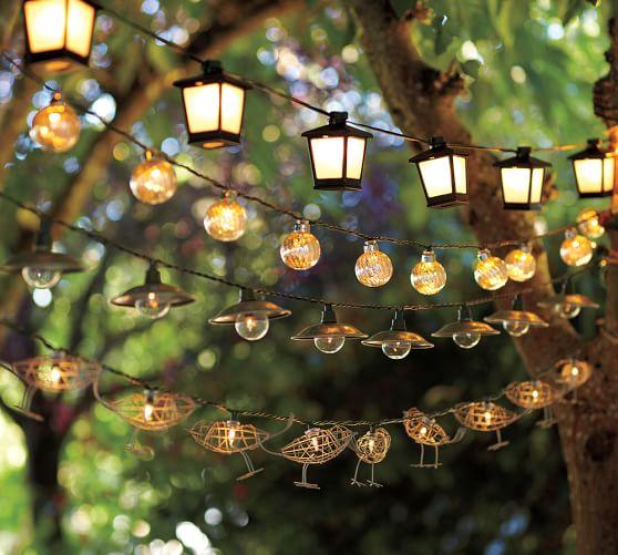 Alternate View · Alternate View - Malta Mini Lantern String Lights Pottery Barn