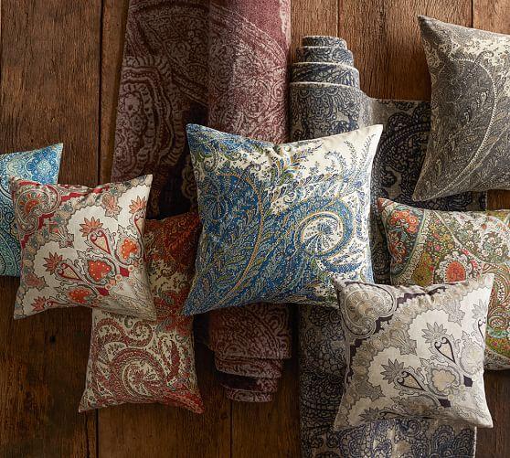 Ellis Paisley Reversible Pillow Cover Pottery Barn