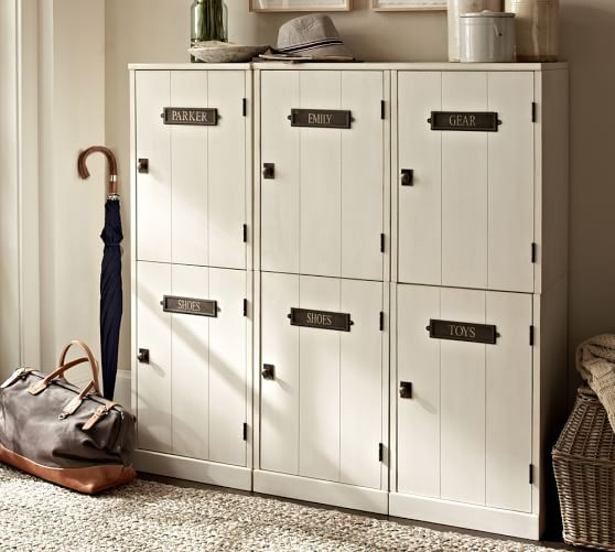 Mudroom Modular Storage : Build your own family modular cabinets pottery barn