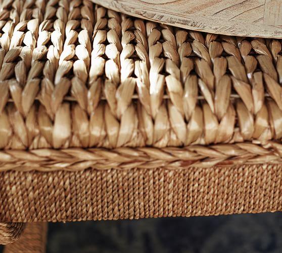 Seagrass Coffee Table Ottoman