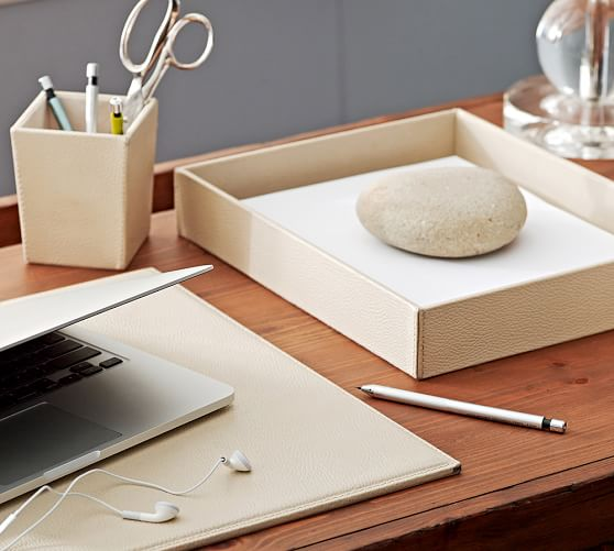 Home Pebble Leather Desk Blotter View Larger Roll Over Image To Zoom