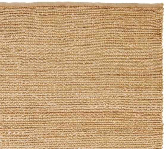 Heathered Chenille Jute Rug Natural Pottery Barn
