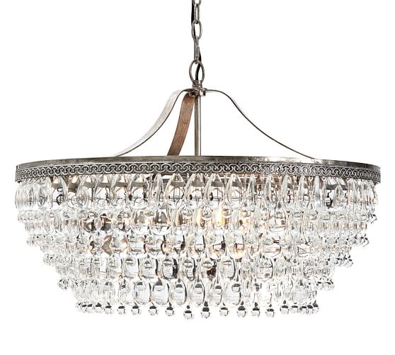 Clarissa Crystal Drop Round Chandelier Pottery Barn : clarissa crystal drop round chandelier c from www.potterybarn.com size 558 x 501 jpeg 44kB