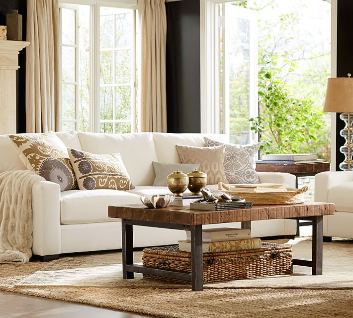 Turner Square Arm Upholstered Sofa | Pottery Barn