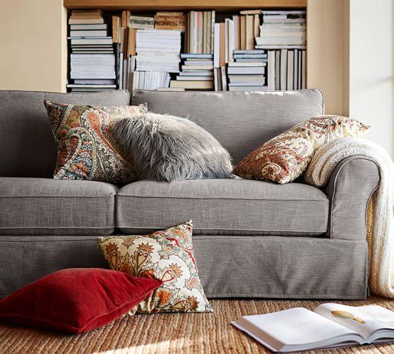 Slipcover Sectional: PB Comfort Roll Arm Slipcovered Sofa