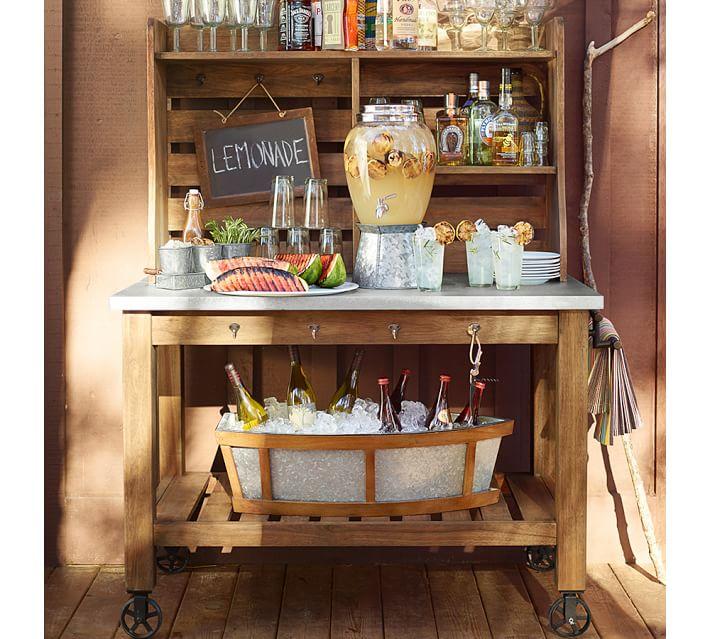 abbott zinc-top buffet hutch | pottery barn, Moderne
