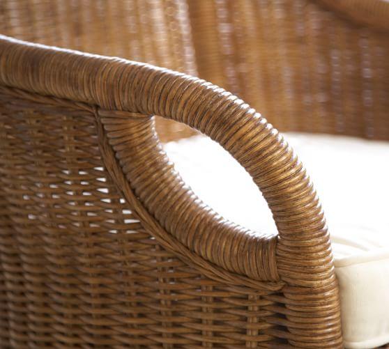 wingate rattan swivel desk chair pottery barn