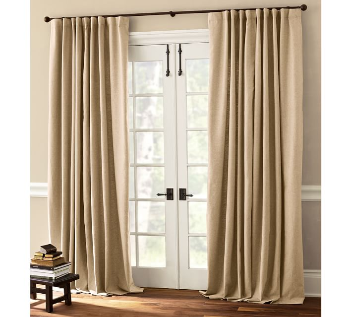 Curtains Ideas curtains double width : Peyton Linen/Cotton Drape | Pottery Barn