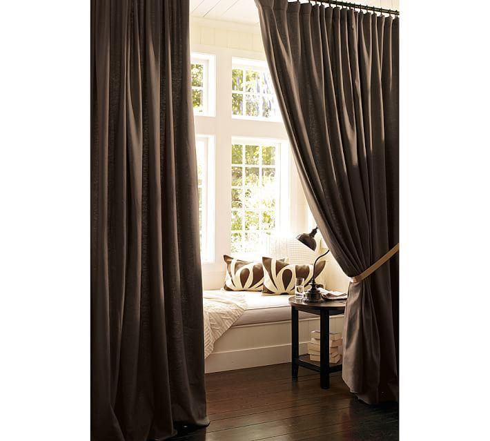 Curtains Ideas curtains double width : Peyton Linen/Cotton Drape | Pottery Barn