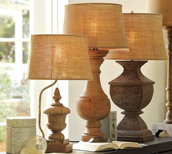 Architectural Salvage Square Urn Lamp Base Pottery Barn